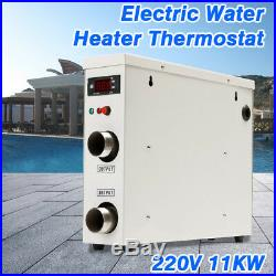 11KW 220V Electric Swimming Pool Water Heater Thermostat Hot Tub Secure Stable