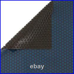 12 Mil Blue Black Solar Blanket 18 X 33 Ft Oval Pool Solar Covers EXBK1833OV