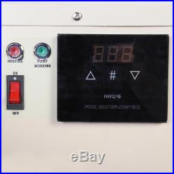 15KW Swimming Pool Thermostat SPA Hot Tub Water Heater 240V Touch Screen Control