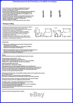 16 KW 1760 KW Titan Wärmetauscher, Schwimmbadwärmetauscher