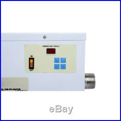 220V 11KW ELECTRIC Water Heater Swimming Pool SPA Hot Tub Thermostat US