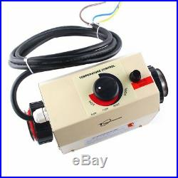 220V 3KW Electric Water Heater Thermostat Machine Swimming Pool SPA Heater USA