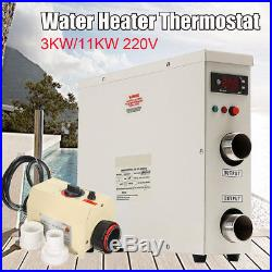 220V 3KWith11KW Swimming Pool SPA Hot Tub Electric Water Heater Thermostat 50/60Hz