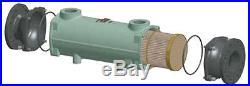 240,000 btu TITANIUM 10 yr Guarantee Salt Water Pool Heat Exchanger by Bowman