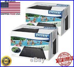 (2 pack) Intex 28685E Above Ground Swimming Pool Water Heater Solar Mat, Black