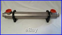 300k BTU Titanium Tube and Shell Heat Exchanger for Saltwater Pools/Spas ss