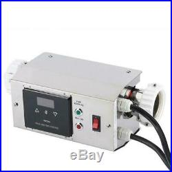 3KW Swimming Pool&Bath SPA Thermostat Electric Water Heater Hot Tub Heating 220V