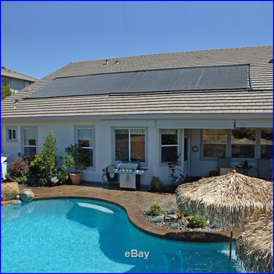 48 x 20' Inground / Above Ground Pool Solar Panel Pool Heater 80 Sq Ft 4' x 20
