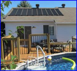 4-2X12' SunQuest Solar Swimming Pool Heater Complete System with Roof Kits