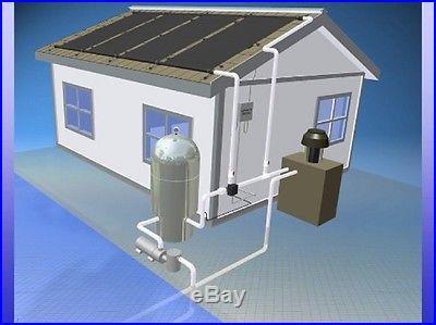 4 4'x12' Inground Pool Solar Panels W/Roof Kits 10 yr