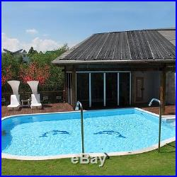 4pcs 4'x10' Swimming Pool Solar Panel Heater Heating Above/In-ground + Accessory