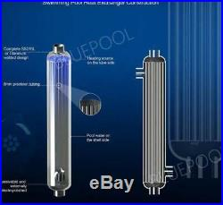 600,000 BTU Stainless Steel Tube and Shell Heat Exchanger for Pools/Spas os