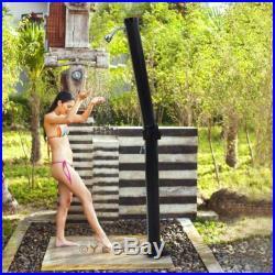 7-1/2FT Pool Spa Solar Base Folding Shower Stand Outdoor Backyard Poolside Beach