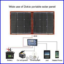 80W 12v/18v Foldable Portable Solar Panel Bag Solar Car Battery Charger Camping