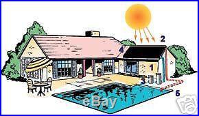 8 Panel Inground Pool Solar Heater System w/ Controller