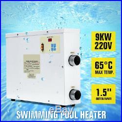 9KW 220V Swimming Pool & SPA Tub Water Heater Bath Thermostat Electric Digital