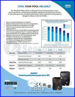 AquaCal TropiCool TC1000 Swimming Pool Chiller Cooler, Heat Pump New 2019