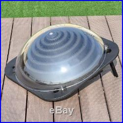Black Outdoor Swimming Pool Solar Sun Powered Dome Warm Water Heater Hose Kit