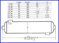 Boot-Wärmetauscher, Edelstahl L316, zur Motor und Getriebekühlung, Zweikreissys
