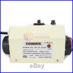COASTS 3KW Swimming Pool & SPA Hot Tub Electric Heater Heating Thermostat 220V