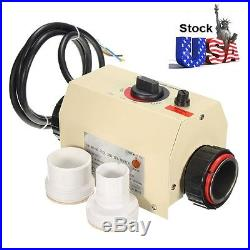 Coasts 3kw Swimming Pool Spa Hot Tub Electric Water Heater Thermostat 220v Usa