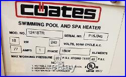 Coates Electric Pool & Spa Heater 18kw Single Phase 12418TR