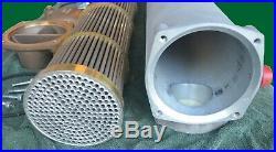 Copper Nickel 70/30 Tube Heat Exchanger, Pool / Marine Duty, NPT Ports, Bowman