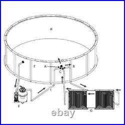 Double Pool Solar Heating Panel 59.1x29.5