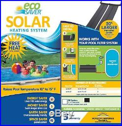 Eco Saver 20-Foot Solar Heating Panel System Oval Ground Pool Ldpe Material Roof
