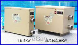 Electric Swimming Pool Thermostat Heater SPA Bath Hot Tub Water Heater 220V
