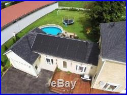 Enersol 1'x8' Above Ground, In-Ground Swimming Pool Solar Heater (Choose Size)