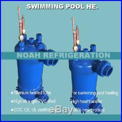 Free shipping! 11.3KW condensing unit heat exchanger, titanium swimming pool co