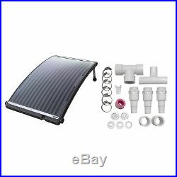 GAME 4721 SolarPRO Curve Swimming Pool Heater + Multiple Heater Bypass Kit