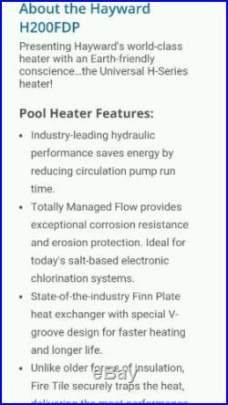Hayward h200fdp pool heater