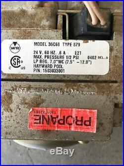Hayward pool Gas Valve 36C68 Type 879 3/4 LP Gas For Pool Spa Heater