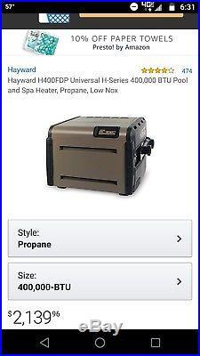 Hayward propane pool heater 400k btu