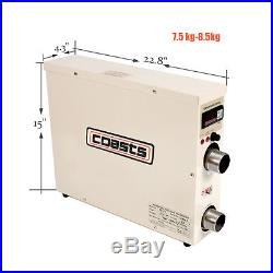 Hot Electric 5.5KW Water Heater 220V Thermostat Swimming Pool & Tub SPA