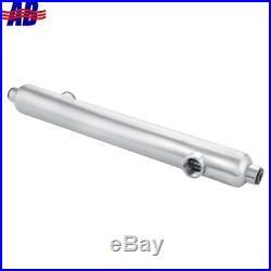 Hot Tub Heat Exchanger Stainless Steel 316L 210kBtu Opposite Side 1.5FPT
