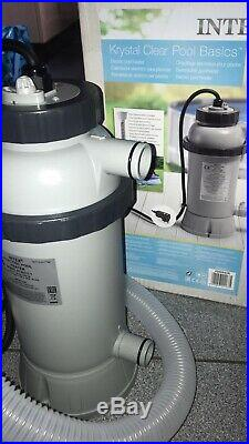 INTEX Electric Pool Heater Pump 2.2Kw Above Ground Pools UpTo 15ft Swimming NEW