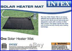 Intex 28685E Above Ground Swimming Pool Water Heater Solar Mat, Black