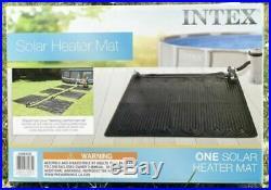 Intex Solar MatAbove Ground Swimming Pool Water Heater Black 28685E