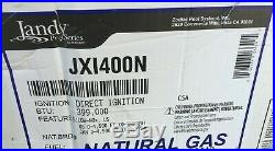 JANDY JXI Series 399K BTU NATURAL GAS POOL HEATER JXI400N