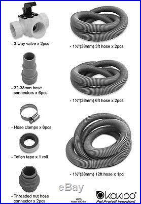 Kokido Kafra Dual Solar Dome Swimming Pool Water Heaters & Bypass Kit