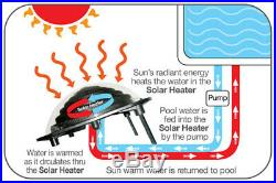 Kokido Keops Solar Dome Above Ground Home Swimming Pool Water Heater (3 Pack)