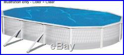 Magni-Clear Solar Cover 15' x 30' Oval Above Ground Swimming Pool 5 Yr Warranty