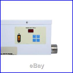 New 18KW 220V Electric Water Heater Swimming Pool SPA Hot Tub Heater Thermostat
