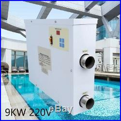 New Electric Pool Heater Swimming Pool SPA Heater Electric Thermostat 9KW 220V