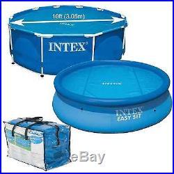 New Intex Krystal Clear Lightweight Solar Pool Cover 10' Diameter Free Shipping