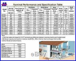Outdoor Wood Furnace Boiler Stainless Steel Pool Heat Exchanger 85K BTU