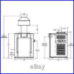 PR406AEPX58 Raypak Digital Cupro-Nickel Propane 406,000 BTU Pool Heater
